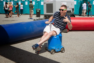 Photo: Keg racing at the 2014 Beer Carnival, Atlanta, Georgia