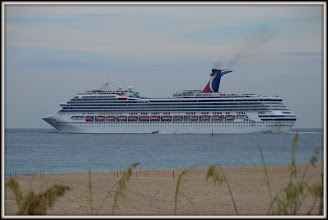 Photo: A daily Ocean Liner leaving port