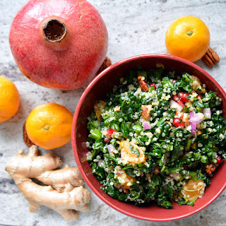 Pomegranate Quinoa Salad with Mandarin Ginger Dressing