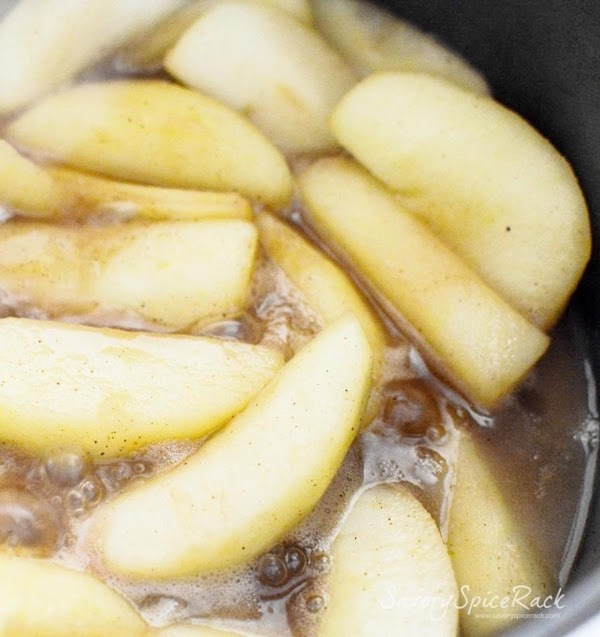 Peel, slice, and core your apples.  (I cut the apples in wedges.) ...