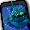 Angry Shark Pet Cracks Screen icon