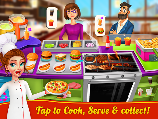 Food Court Cooking - Fast Food Mall Fever 1.8 screenshots 1