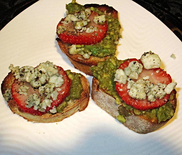 Blue Cheese And Strawberry Avocado Toast Recipe