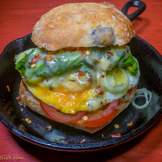 Burger with Avocado and Blue Cheese Recipe