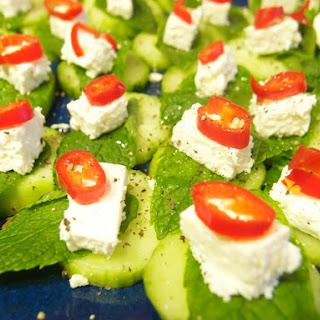 Cucumbers Canapes Recipe