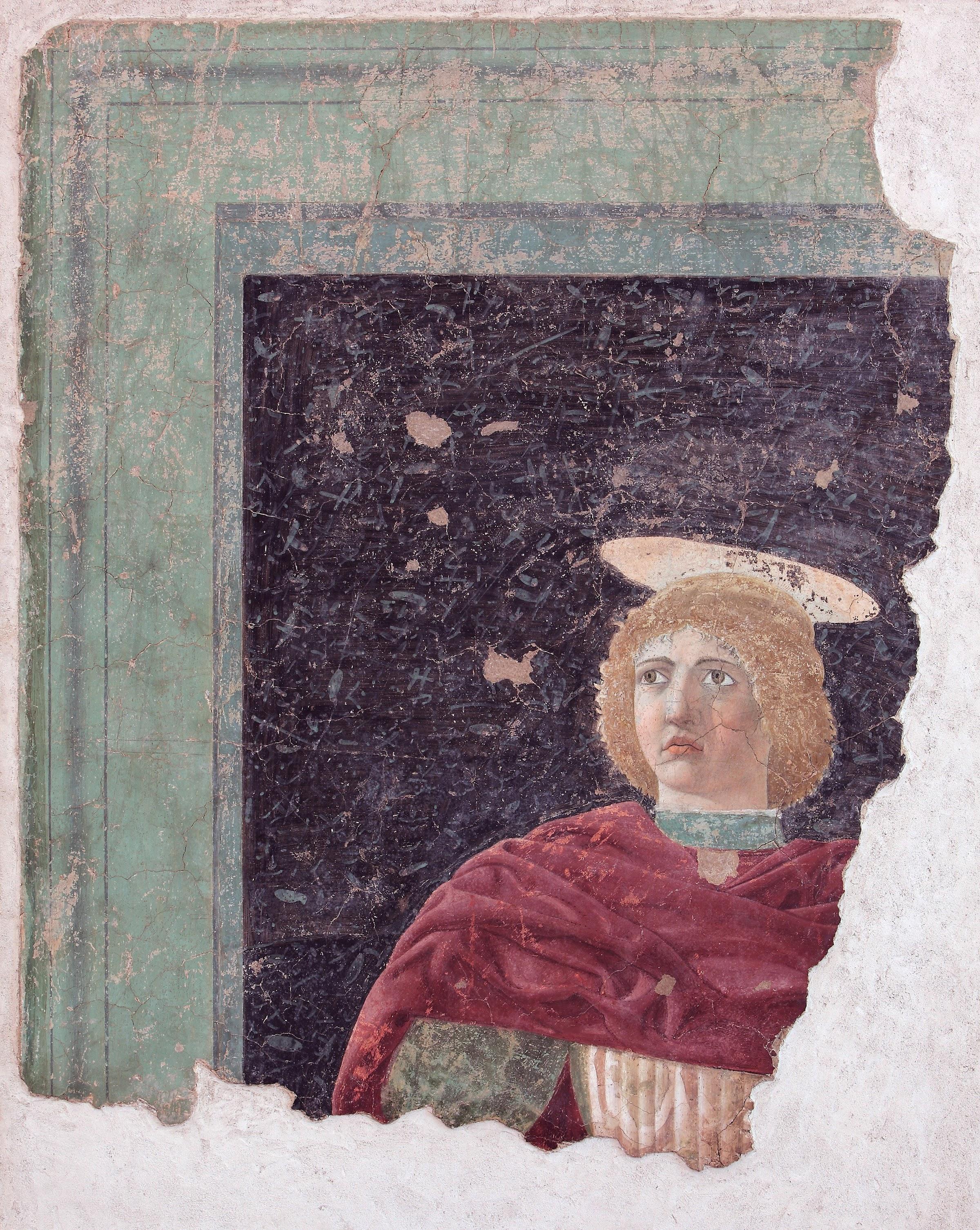 Piero della Francesca, San Giuliano (dettaglio), 1454-1458, affresco frammentario staccato, Museo Civico, Sansepolcro