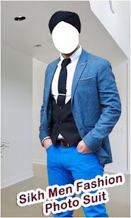 Sikh Men Fashion Photo Suit - náhled