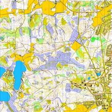 Photo: Kuusankoski, Finnish night-O championship 2012 terrain. Karttapullautin map from the open data of the National Land Survey of Finland. 16 square km.