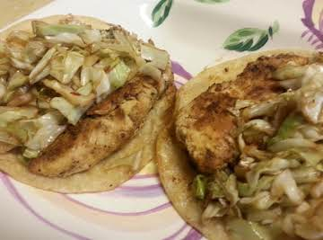Chicken Cabbage Tacos