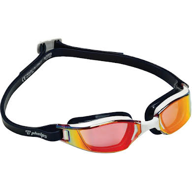 Michael Phelps Xceed Goggles - Blue/White with Red Titanium Mirror Lens