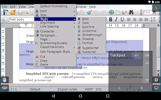 Screenshot of AndrOpen Office