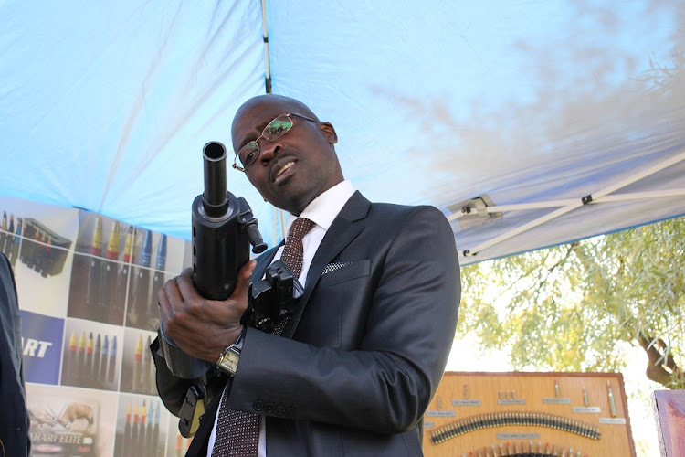 Malusi Gigaba says no one is taking aim at PIC money. Here he inspects military weapons at Denel offices in Irene, Centurion in this 2012 file photo.    Picture: SOWETAN