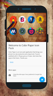 Color Paper - Icon Pack Screenshot