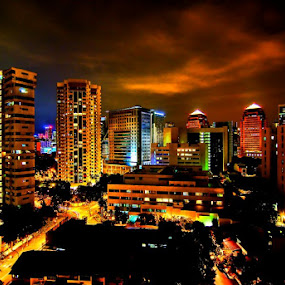 Singapore's Nightscape by Sigit Setiawan - City,  Street & Park  Vistas
