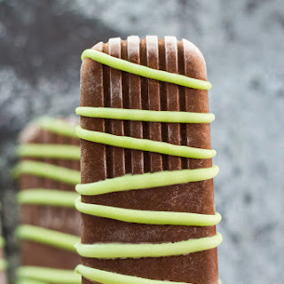Homemade Mint Chocolate Fudgesicles