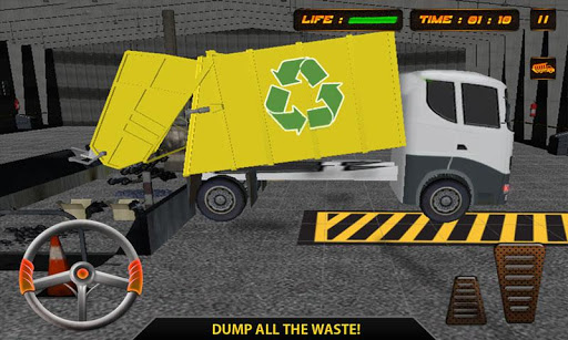 City Garbage Dump Truck Driver