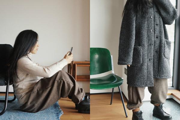 玉米式穿法 冬天保暖怎麼穿 忽冷忽熱怎麼穿  羊毛大衣穿搭