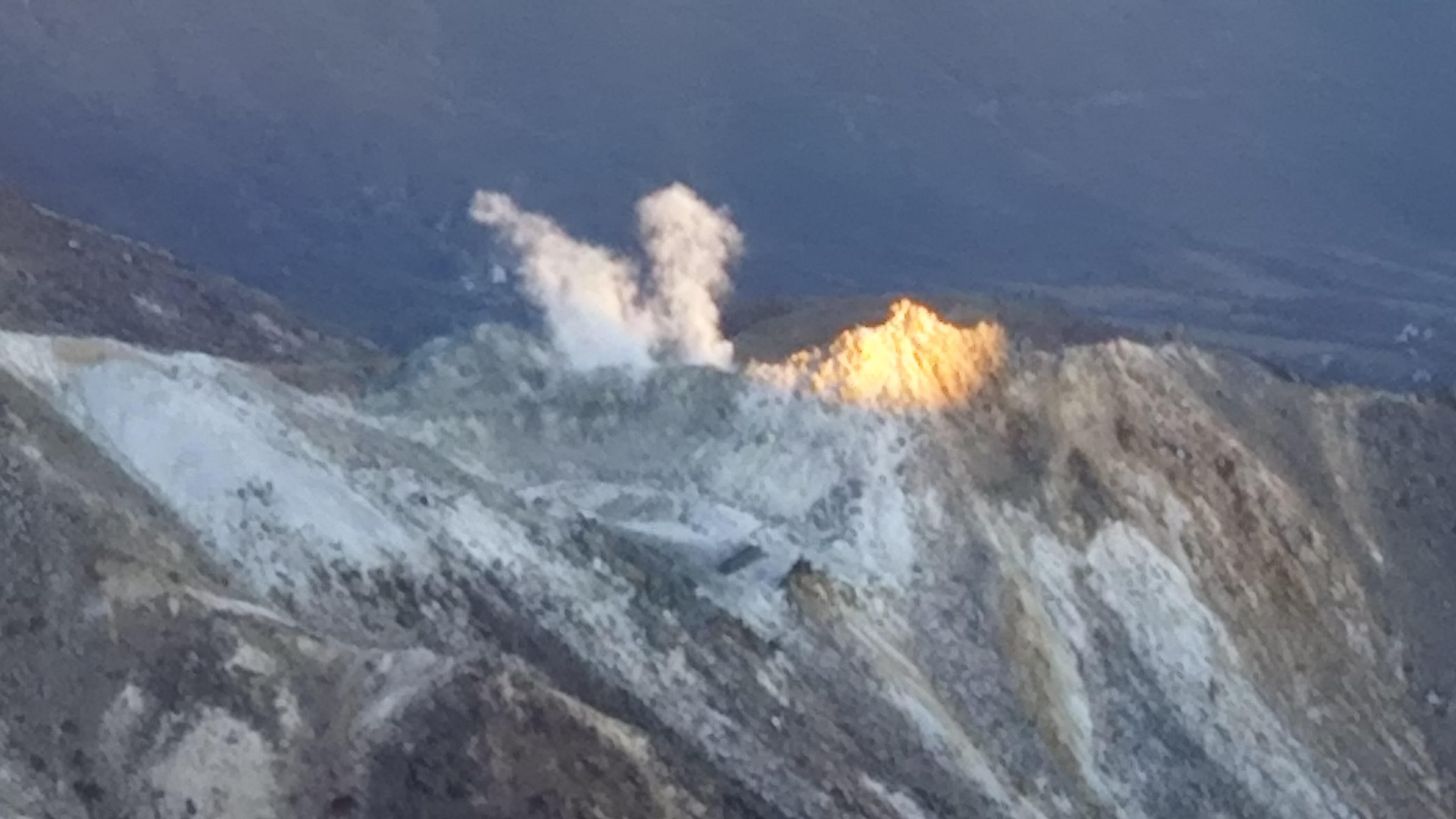 硫黄岳の噴気