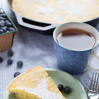 Skillet Blueberry-Lemon Breakfast Cake