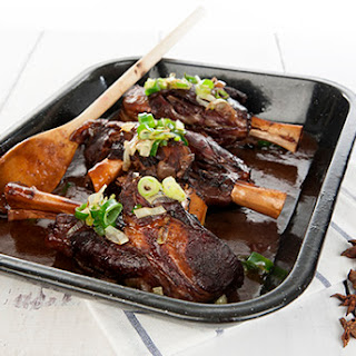 Slow Cooked Maple Syrup Lamb Shanks