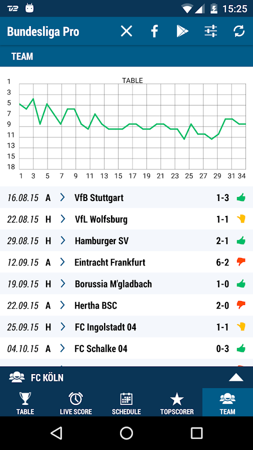 Bundesliga Pro- screenshot