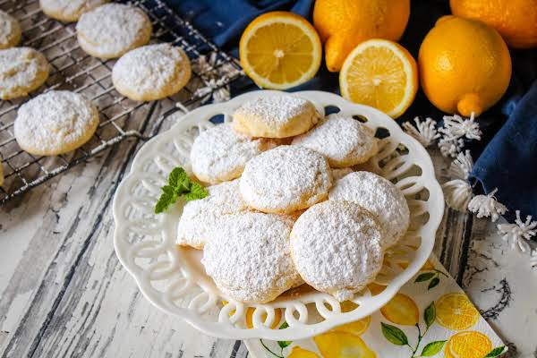 A Plate Of Lemony Afternoon Cookies.