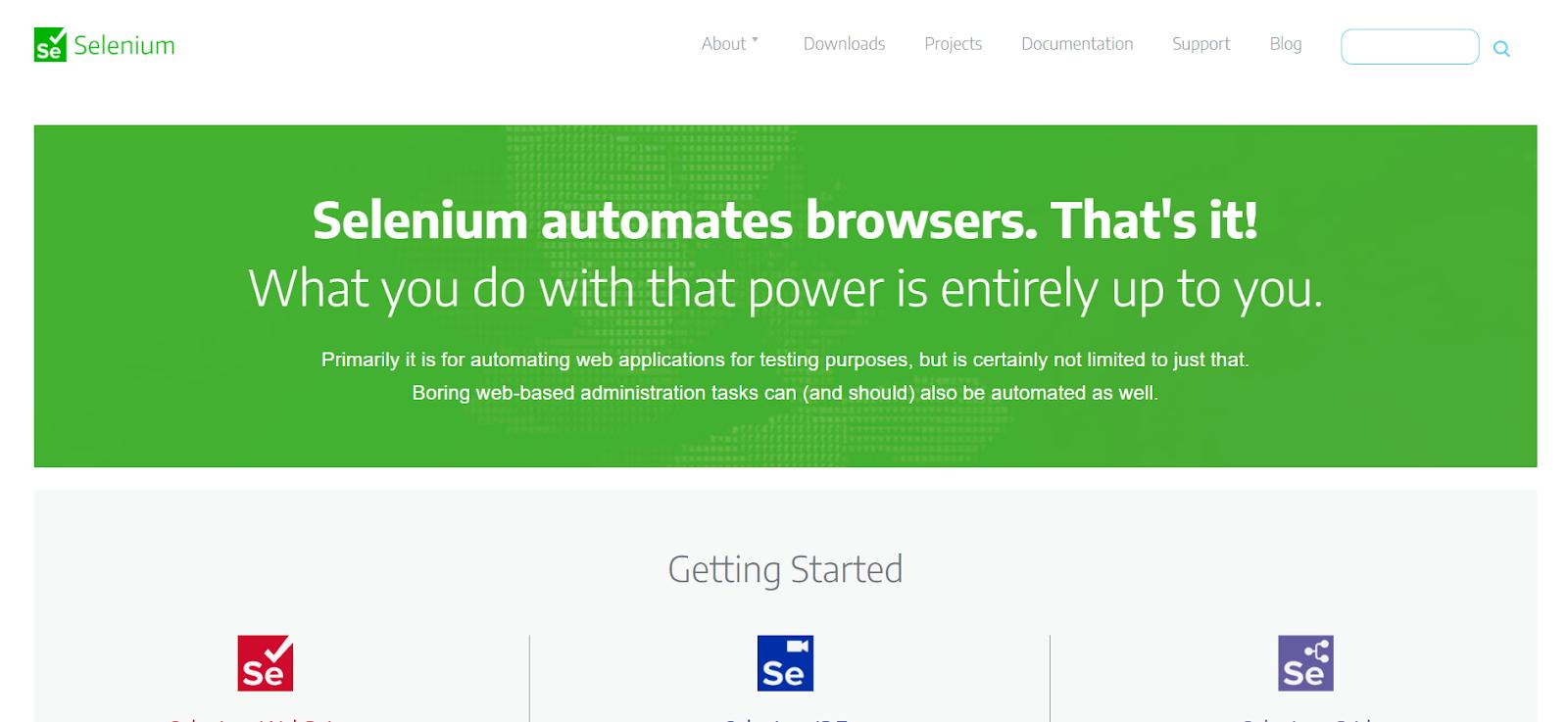 Selenium Automation Testing Tool