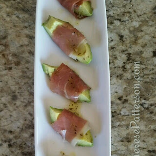 Prosciutto Wrapped Avocado Appetizer.
