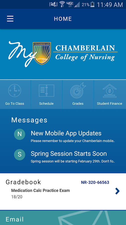 How do you attend Chamberlain College of Nursing online?