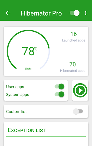 Hibernator Pro: Hibernate running apps & save battery v2.2.3