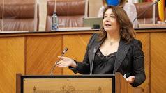 Intervención de la consejera de Agricultura en el Parlamento de Andalucía.