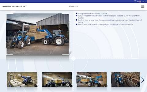 New Holland Ag. T6 range App screenshot 8