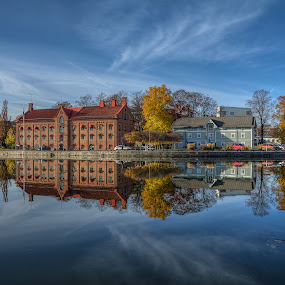 Mirror by Manu Heiskanen - Uncategorized All Uncategorized ( water, mirror, sweden, blue, eskilstuna, reflecting )
