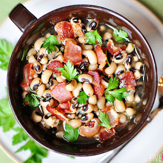 Black-Eyed Peas with Bacon ~ Luck for the New Year!