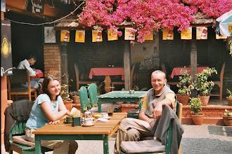 Photo: Zurück in Kathmandu, Frühdtück im Delima Garten
