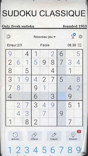 Sudoku - Sudoku classique gratuit  captures d'u00e9cran 1
