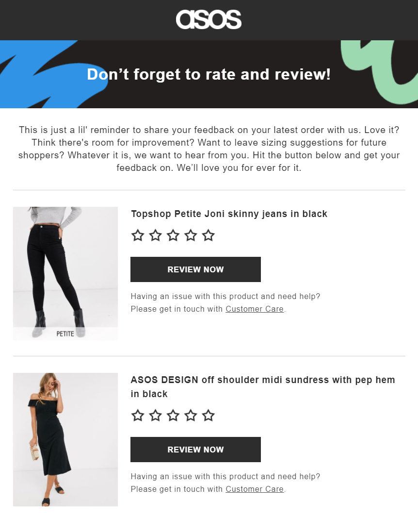 Asos email marketing automation