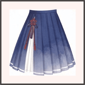 青墨華-スカート