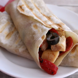 Italian Antipasto Grilled Chicken Wrap