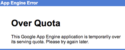 App Engine over quota error