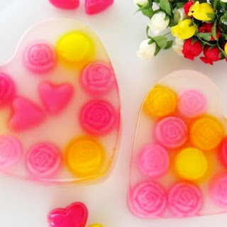 Heart Shaped Jelly For Valentine's Day.