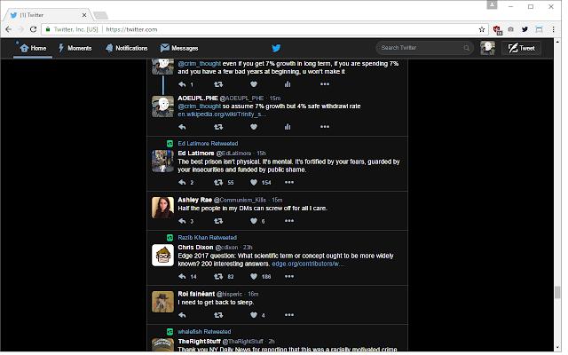 Twitter Web - Dark Mode (Black)