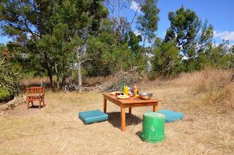 Photo: Snídaně v trávě, tedy spíš oběd.
