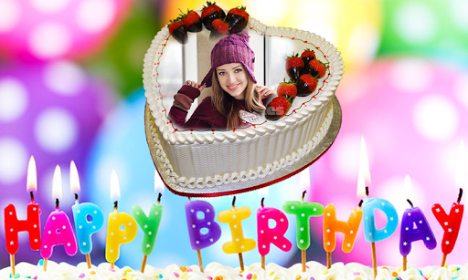 Photo On Birthday Cake CakesName Frame Screenshot 2