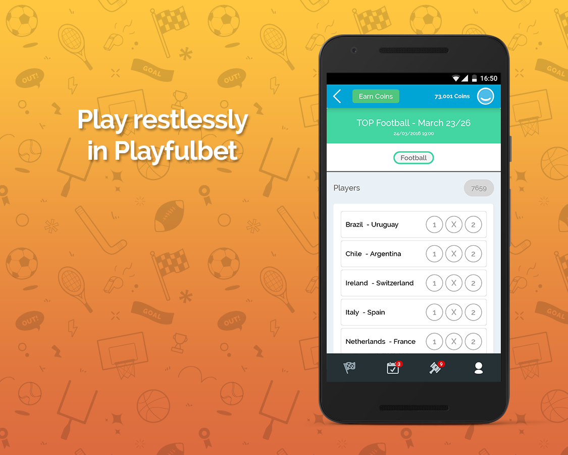Playfulbet App- screenshot