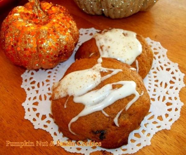 Pumpkin Nut & Raisin Cookies Recipe