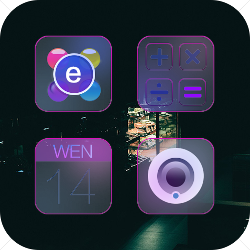 Transparent Gradient Icon Pack-Purple Mystery