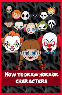 How to draw Horror Characters- screenshot thumbnail