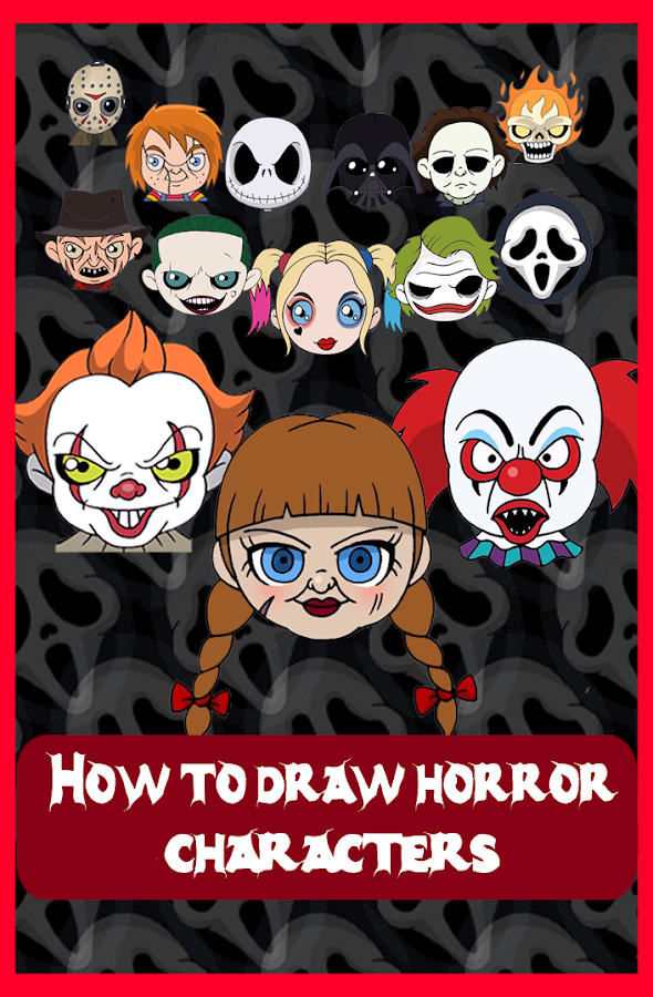 How to draw Horror Characters- screenshot
