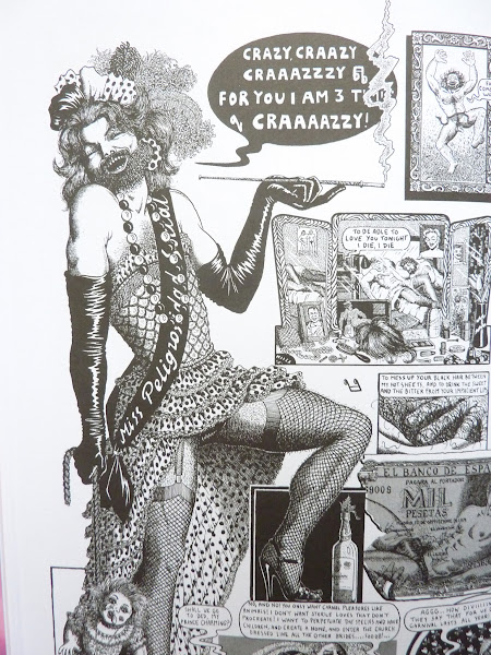 """Photo: No Straight Lines: Four Decades of Queer Comics by various artists; edited by Justin Hall  http://www.fantagraphics.com/nostraightlines  328-page black & white/color 7.75"""" x 10.25"""" hardcover • $35.00 ISBN: 978-1-60699-506-8 - Detail by Nazario."""